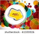 abstract background with vector ... | Shutterstock .eps vector #61103326