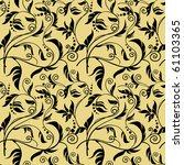 floral background gold end black | Shutterstock .eps vector #61103365