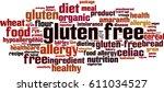gluten free word cloud concept. ... | Shutterstock .eps vector #611034527