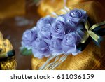 sandalwood flowers or... | Shutterstock . vector #611036159