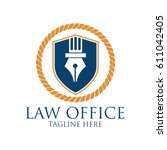 Law Firm Logo With Text Space...