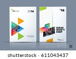 business vector template.... | Shutterstock .eps vector #611043437