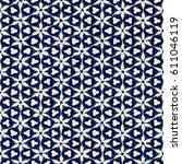 native batik watercolor... | Shutterstock . vector #611046119