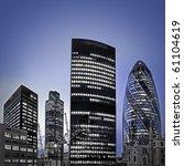 evening time shot of london's... | Shutterstock . vector #61104619