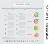 time line info graphics design... | Shutterstock .eps vector #611048147
