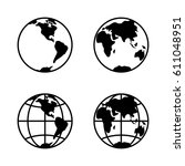 world icon set on white... | Shutterstock .eps vector #611048951