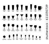 bar glasses with names  black... | Shutterstock .eps vector #611050739