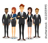business people teamwork... | Shutterstock .eps vector #611055995