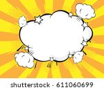 pop art style speech bubble... | Shutterstock .eps vector #611060699