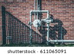 isolated image of steel gas... | Shutterstock . vector #611065091