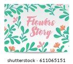 vector set of invitation cards... | Shutterstock .eps vector #611065151