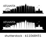 atlanta skyline   georgia  ... | Shutterstock .eps vector #611068451