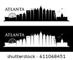 atlanta skyline   georgia  ... | Shutterstock .eps vector #611068451