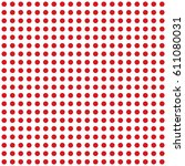 polka dot pattern vector.... | Shutterstock .eps vector #611080031