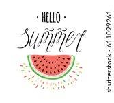 bright typography banner hand... | Shutterstock .eps vector #611099261