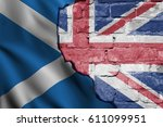 flags of the united kingdom and ... | Shutterstock . vector #611099951