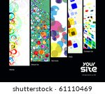 abstract web site design