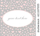 various pink hearts seamless... | Shutterstock .eps vector #611107055
