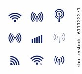set of vector wi fi and... | Shutterstock .eps vector #611122271