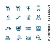 dental icons   micro series | Shutterstock .eps vector #611130305