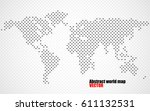 abstract halftone world map.... | Shutterstock .eps vector #611132531