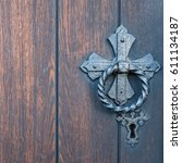 Detailed View On Old Wooden...