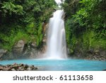 celestial blue waterfall in... | Shutterstock . vector #61113658
