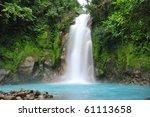 celestial blue waterfall in... | Shutterstock . vector #61113658