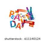 international peace day.... | Shutterstock .eps vector #611140124