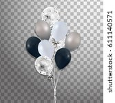 bunches of balloons isolated.... | Shutterstock . vector #611140571