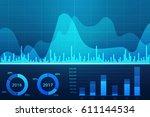 stock market chart. business...   Shutterstock . vector #611144534