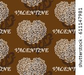 valentine's day  the human...   Shutterstock .eps vector #611147981