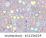 Hand Drawn Seamless Pattern Of...