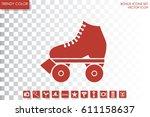 vector illustration of roller... | Shutterstock .eps vector #611158637
