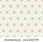 minimal sacred geometry graphic ... | Shutterstock .eps vector #611160749