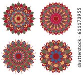 set of mandalas. vintage... | Shutterstock .eps vector #611173955
