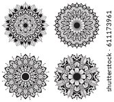 set of mandalas. vintage... | Shutterstock .eps vector #611173961