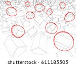 3d illustration of many... | Shutterstock .eps vector #611185505