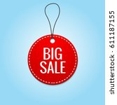 round red price tag with big... | Shutterstock .eps vector #611187155