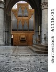 Huge Pipe Organ In A Cathedral