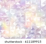 bright geometric holographic... | Shutterstock .eps vector #611189915