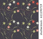 seamless pattern with elegant... | Shutterstock .eps vector #611190719