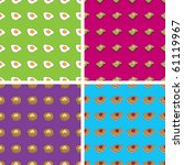 four seamless doodle patterns ... | Shutterstock .eps vector #61119967