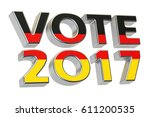 vote 2017 in germany. german... | Shutterstock . vector #611200535