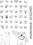 polar bear cartoon in vector... | Shutterstock .eps vector #61121425