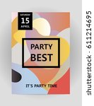 abstract background for party... | Shutterstock .eps vector #611214695