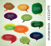 collection of colorful speech...   Shutterstock .eps vector #61121470