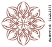 design with abstract hand drawn ... | Shutterstock . vector #611218895