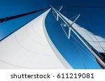 sailing yacht catamaran sailing ... | Shutterstock . vector #611219081