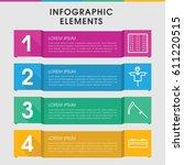 modern field infographic... | Shutterstock .eps vector #611220515